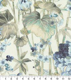 "Waverly Upholstery Fabric 54""-Peace Garden Lake"