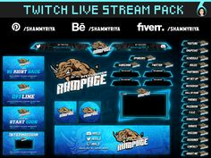 Twitch Live Stream Pack for Streamers by Shammy Riya Discord Me, Esports Logo, Streamers, Overlays, Packing, Bag Packaging, Paper Streamers, Garlands