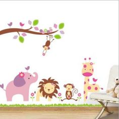 wall stickers bambine : air balloon and parachute wall stickers home decor/vinyl wall stickers ...