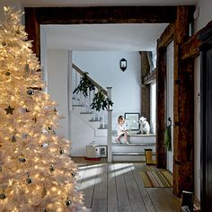 Dazzling White Entryway white faux interior interior design  christmas decorations merry christmas xmas christmas decor christmas ideas holiday decorations christmas tree