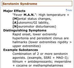 serotonin syndrome klonopin withdrawal