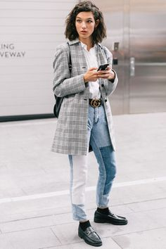 loafers and socks street style