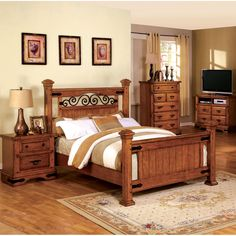 Add a touch of country charm to your bedroom with one of these elegant beds. This piece features an eye-catching bed frame that is sure to stand out beautifully.