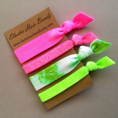 4 of Elastic Hair Bandz hair ties-ponytail holders. Heat Sealed to help prevent fraying. Elastic hair bandz hair ties are made with a soft & stretchy elastic that is extremely gentle to your hair and Elastic Hair Bands, Elastic Headbands, Hello Kitty Rooms, Spa Birthday Parties, Hair Supplies, Cute Bracelets, Beaded Bracelets, Tie Headband, Glitter Hair