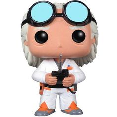 Go back in time with Doc Vinyl Figure and Back to the Future. This Back to the Future Doc Brown Pop. Vinyl Vehicle features the secondary protagonist of the Back to t
