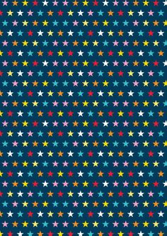 FREE printable scrapbook and wrap paper - stars on blue