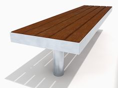 The straight Tree bench features an incredibly strong all welded stainless steel frame and easily replaceable FSC® timber slats. It has been designed to withstand the heaviest town centre treatment. http://factoryfurniture.co.uk/index/products/seating/tree-range/straight-tree-bench.html