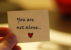 You Are Not Alone by Confessions of a Northern Belle