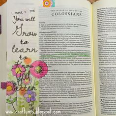 Grow to Learn Journaling Bible Illustrated Faith Colossians 1:10