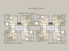 high rise residential floor plan - Google Search