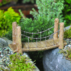 FAIRY GARDEN Miniature ~ Suspension Bridge ~ Mini Dollhouse | eBay