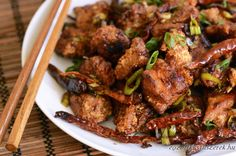 Spicy Wok-Fried Chicken with Chilis (Chongqing Chicken) Recipe Leftover Fried Chicken Recipes, Chicken Tender Recipes, Spicy Recipes, Asian Recipes, Cooking Recipes, Ethnic Recipes, Asian Foods, Chongqing Chicken Recipe, Popular Chinese Dishes