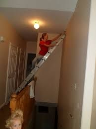 Painting High Ceilings Over Stairs
