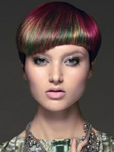Colourful hairstyle