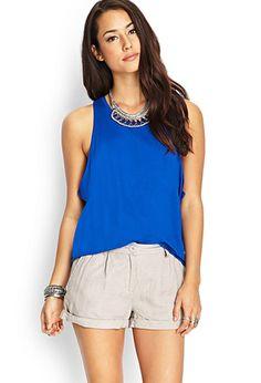 Linen-Blend Shorts   FOREVER21 - 2000124834
