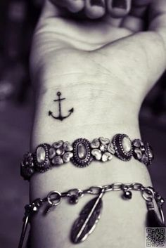 15. Tiny #Wrist Anchor - These #Nautical Tattoos Will Make You Want to Sail the #Seven Seas ... → #Beauty #Anchor