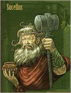 Sucellus is the Gaulish god of alcoholic drinks; in fact, the jar he is often depicted with is said to contain a liquid of some sort, presumably a beverage of some kind. Despite the implications that being a god of alcohol might bring, Sucellus was also revered as a god of agriculture
