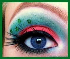 """Coral Reefs""    ( eye makeup blue pink coral glitter fantasy ) sglrpick"