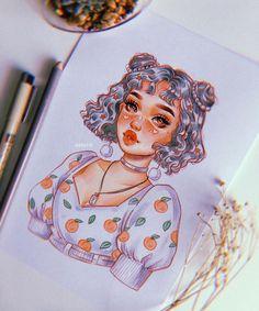 Pencil Art Drawings, Cute Drawings, Drawing Sketches, Marker Drawings, Drawing Art, Cartoon Kunst, Cartoon Art, Art And Illustration, Character Art
