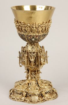 "lunacylover: "" Chalice of Abbot Andrzej from the Tyniec Abbey, Krakow, around 1480, Tarnów (Poland), Cathedral Treasure Chamber. Photo: Centre for History and Culture of East Central Europe at the University of Leipzig (GWZO), Photographer: Miroslaw..."