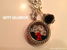 Halloween Inspired Locket!  Thanks to Jodi for creating!  Visit www.mckeown.origamiowl.com to order!!!