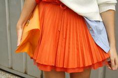 orange pleats