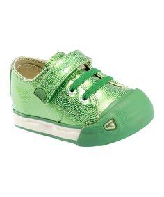 Medium Green Metallic Strap Coronado Sneaker  #zulily #fall