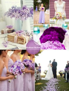 2014 Spring Wedding Colours & Trends By Pantone  - radiant orchid wedding ideas