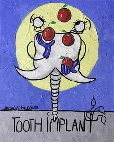 Tooth Implant Collectable Dental art Print Poster by falboart