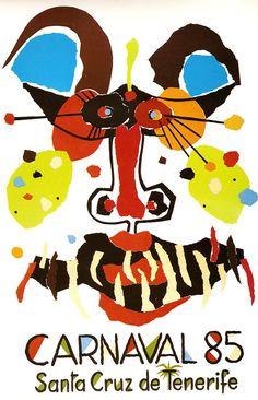 Cartel Carnaval Santa Cruz de Tenerife Año 1985