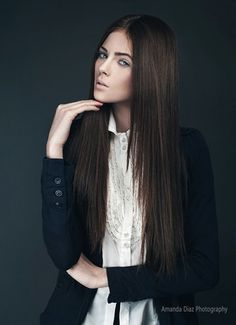 Dramatically straight hair for Fall 2013