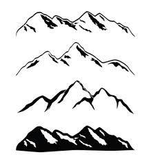 mountain range silhouette - Google Search
