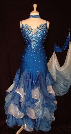 Korean Silk Ballroom Dress  I dream of ballroom dancing with my husband oneday.