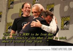 Stan Lee and RDJ so cute!