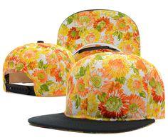 Blank Snapback Hats Flower 7337! Only $8.90USD