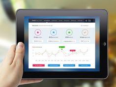 Sales Vendor Admin with Dasboard by Ciprian Gavriliu, via Behance