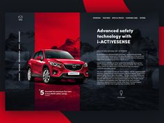 Hello dribbblers!  Want to share with you my fresh UI concept for Mazda promo site. Hope you like it ) Check the attachment to see the 2x version.