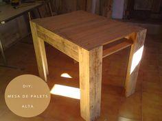 DIY PALETS: Mesa de comedor con palets Diy Furniture, Diy Crafts, Pallet Tables, Diy Pallet, Home Decor, Honey, Chairs, Studio, Business