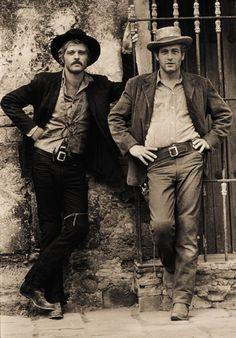 Paul Newman and Robert Redford. Schiller Lawrence : photographer.