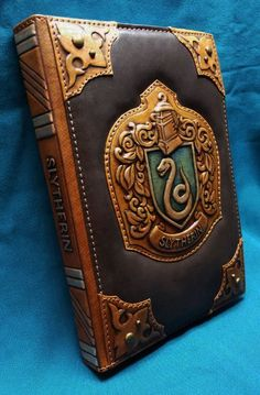 Slytherin Harry Potter a5 Leather notebook cover Leather jouenal cover Harry Potter Leather journals
