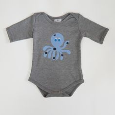 9-month Onesie Grey with Octopus applique.  Limited Edition. $35