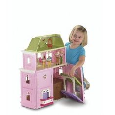 This set comes with BONUS twin car seats, double stroller, cat & cat carrier.  Fisher-Price Loving Family Grand Dollhouse
