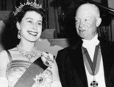 The Queen with President Eisenhower.  - #history #politics