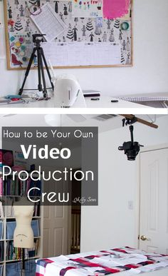 How to be your own production crew - my video setup and how I shoot my own videos - Melly Sews