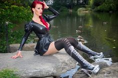 Have an awesome weekend everyone!-p Model Latex Amsterdam Fashion, Honey Hair, Sexy Latex, Latex Girls, Latex Fashion, Nice Dresses, Leather Pants, Sexy Women, Bodysuit