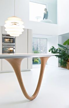 The K Workstation is made of bamboo laminated plywood that is ...