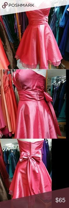 Beautiful Prom Dress Beautiful Strapless Prom Dress. NWOT. You would love this high quality dress. Super cute for any prom like occasion. This twirl dress will sweep you off your feet! Don't miss out on this great deal! Every girl needs a pretty pink dress!😉💗 Pretty Maids Dresses Prom