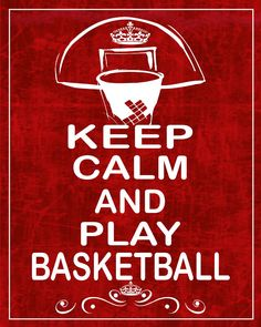 Keep Calm And Play Basketball Photograph - Keep Calm And Play Basketball Fine Art Print