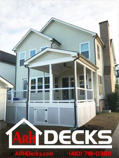 """If you like to host parties, a deck can be the perfect space for all of your gatherings... you can also add a grill or a portable bar and raise the level of a simple deck to a real outdoor entertaining space... call us for a quote! Carroll County MD Deck Contractor – ARH Decks (410) 718-0388"""
