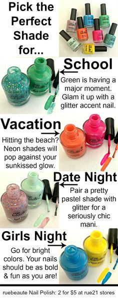 How to pick the perfect shade for every occasion!